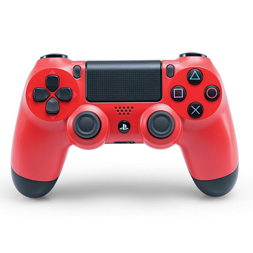 dual shock 4 wireless controller ps4 rosso sony