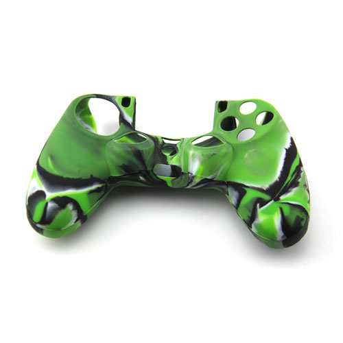 cover in silicone camouflage verde per controller ps4 dual shock 4