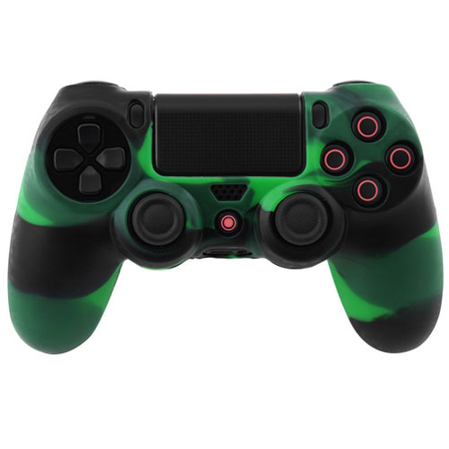 cover in silicone verde nero per controller ps4 dual shock 4