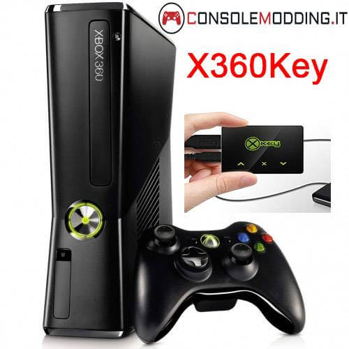 Xbox 360 Slim modificata con X360KEY