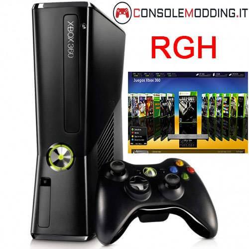 Xbox 360 Slim modificata con RGH + Dual Nand