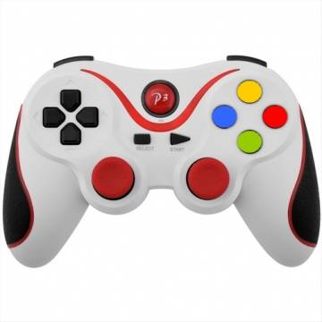 controller ps3 bluetooth wireless double shock 3 bianco rosso