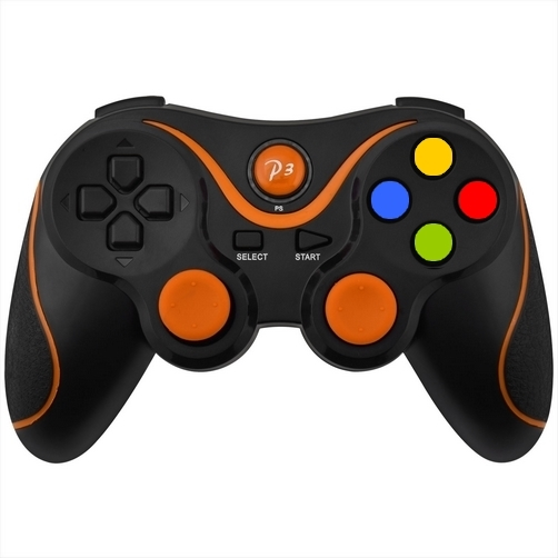 controller ps3 bluetooth wireless double shock 3 nero arancio