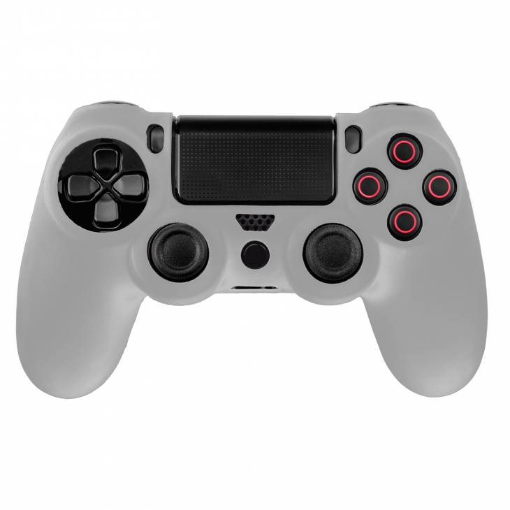 cover in silicone bianco per controller ps4 dual shock 4