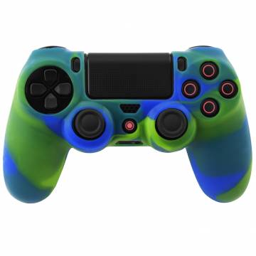 cover in silicone blue giallo per controller ps4 dual shock 4