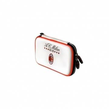 custodia carry case ac milan bianca talismoon per nintendo 3ds dsi ds lite