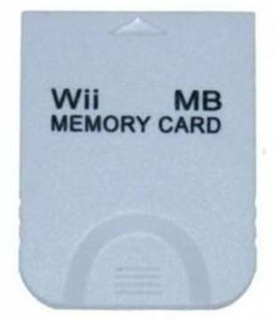 gc/wii memory card da 128mb 2043 blocchi