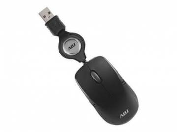 mouse mini adj usb ottico retrattile nero mo123