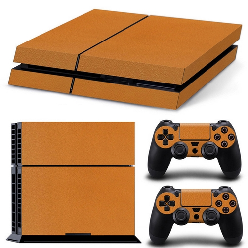 set adesivi pattern series decals skin vinyl arancio per console ps4