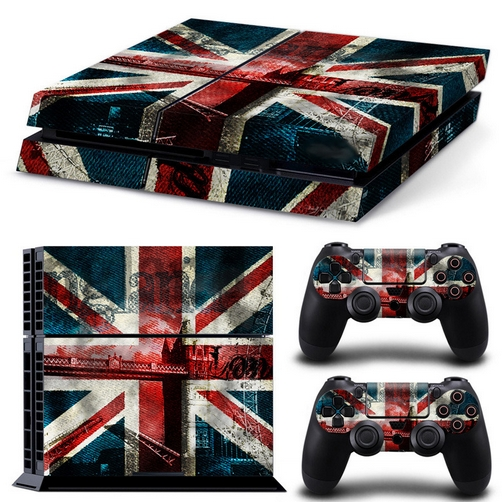 set adesivi pattern series decals skin vinyl british flag per console ps4