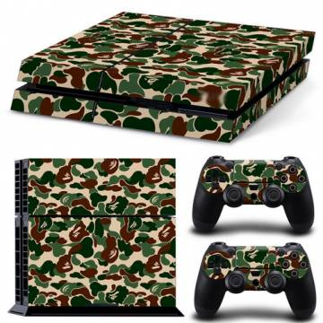 set adesivi pattern series decals skin vinyl camouflage per console ps4
