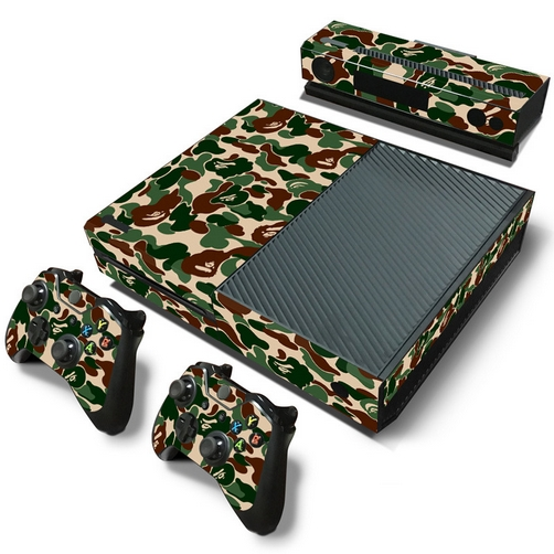 set adesivi pattern series decals skin vinyl camouflage v2 per console xbox one