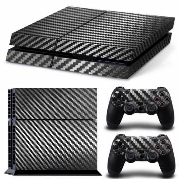 set adesivi pattern series decals skin vinyl fibra carbonio per console ps4