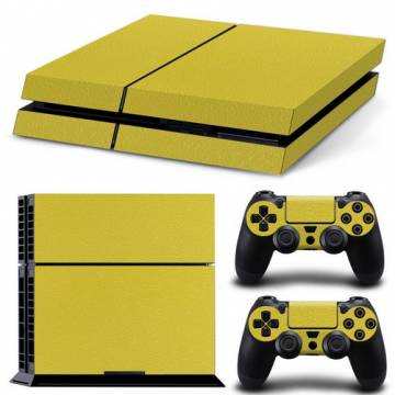 set adesivi pattern series decals skin vinyl giallo per console ps4