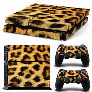set adesivi pattern series decals skin vinyl leopardo per console ps4