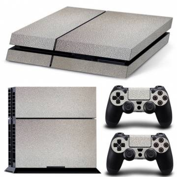set adesivi pattern series decals skin vinyl silver per console ps4
