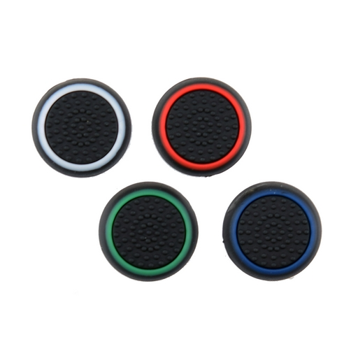 set grip gommini stick analogico nero/color per controller ps4-ps3-xbox one-360