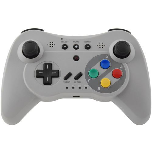 triple function bluetooth wireless pro controller grigio per wii u